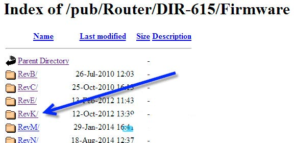 index of/pub/router/D-Link